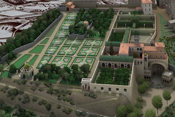 Archeologia Architettura restituzione grafica 3D-Palazzo del Quirinale-Studio3R