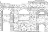 Architettura restauro rilievo prospetto Acquedotto Felice Roma Studio 3R
