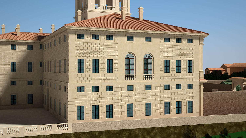 Ricostruzione 3D del Palazzo del Quirinale – Roma 1585