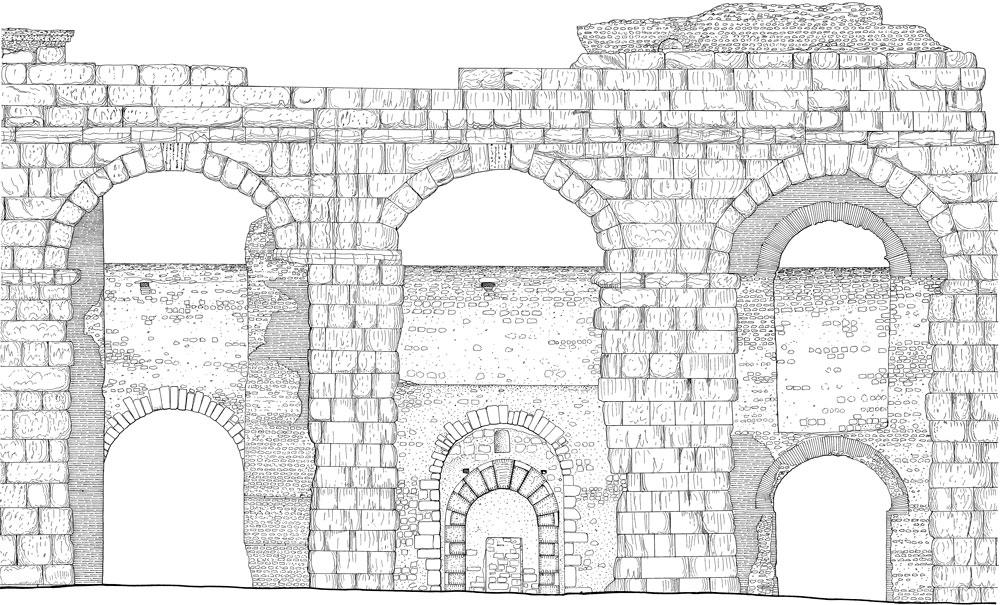 Prospetto dell'acquedotto Felice - Roma
