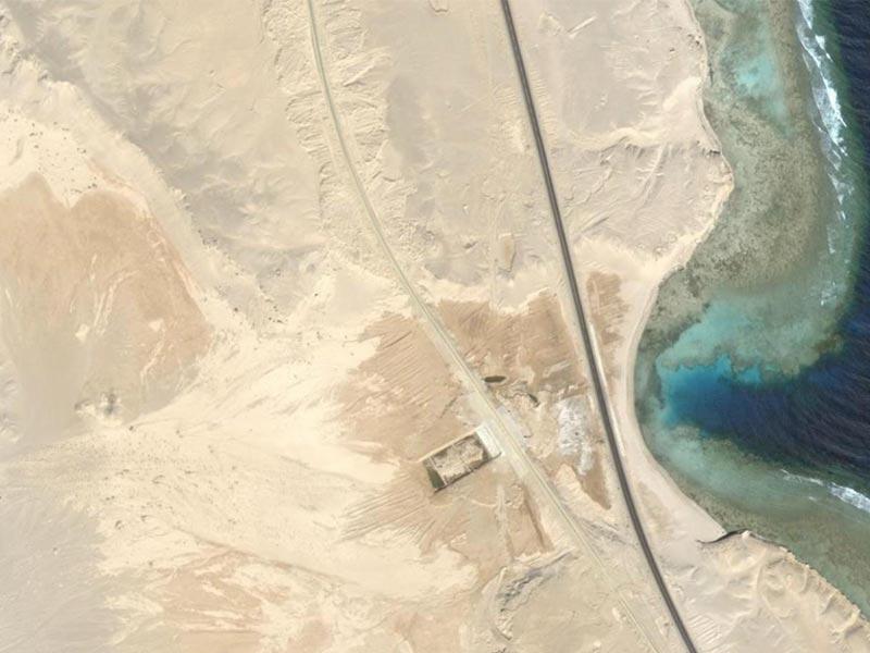 Archeologia scavo immagine satellitare Wadi Gawasis Studio 3R