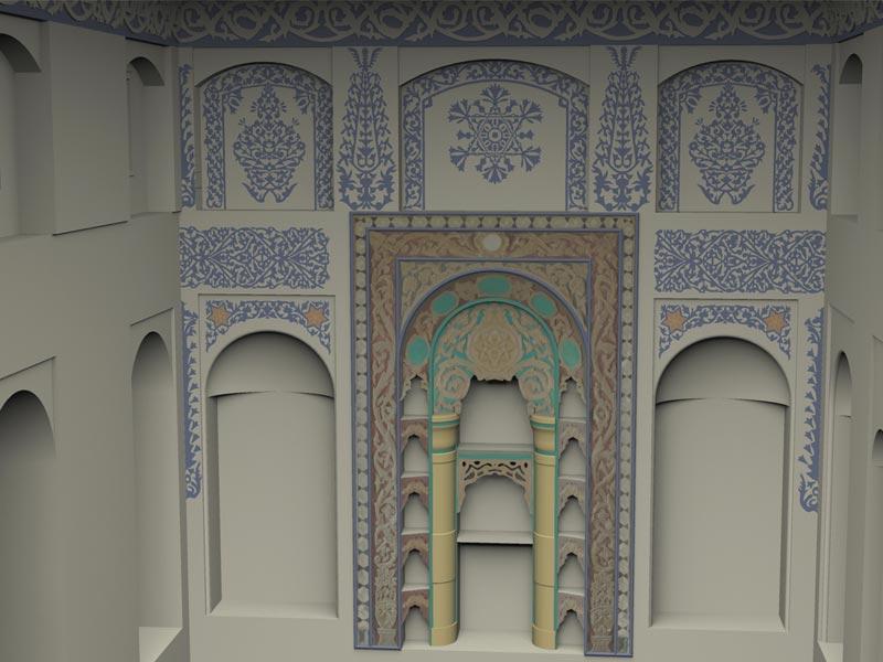 Architettura restauro restituzione grafica 3D Rashid Agha House Studio 3R