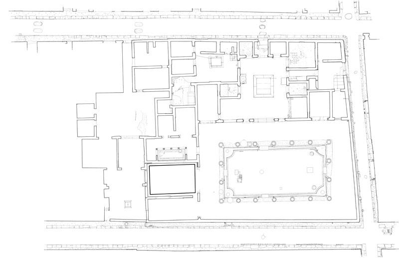 Planimetric survey Casa dei Vettii Pompeii Naples