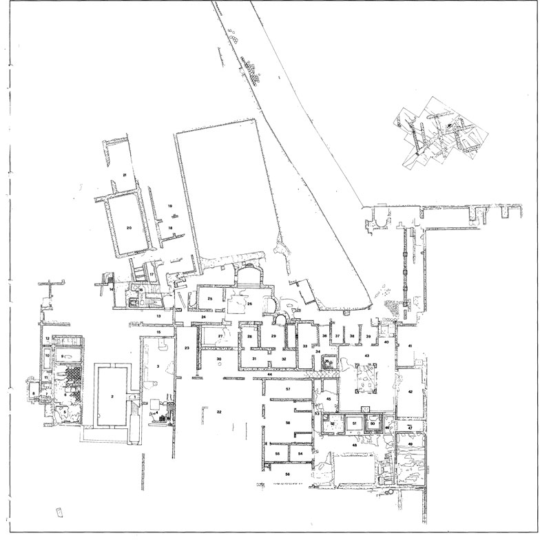 Topographic map of Livia's Villa - Rome