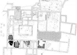 Planimetric survey of an excavation in Ostia Antica - Rome